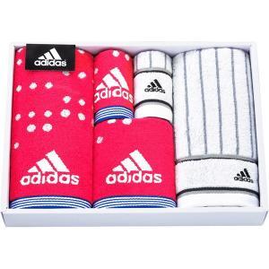 包装・のし無料*アディダス アストラル タオルセット ピンク AD5071 (お返し 祝い 結婚 出産 快気 法事 香典返し) breezebox