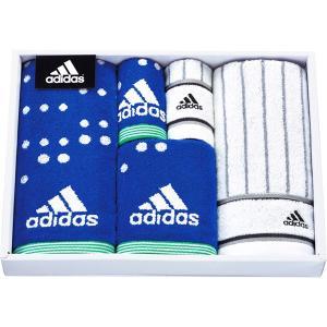 包装・のし無料*アディダス アストラル タオルセット ブルー AD5071 (お返し 祝い 結婚 出産 快気 法事 香典返し) breezebox