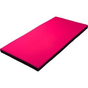 西川リビング ラクラスマート 体圧分散敷きふとん(丸巻き) ピンク 2461-00267 (安眠 快眠 健康 肩こり 腰痛 新生活 )|breezebox