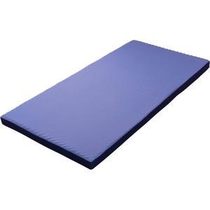 西川リビング ラクラスマート 体圧分散敷きふとん(丸巻き) ブルー 2461-00267 (安眠 快眠 健康 肩こり 腰痛 新生活 )|breezebox