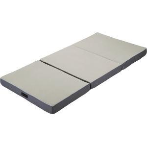 西川リビング ラクラ 体圧分散敷きふとん(三つ折り) シルバー 2460-10342(安眠 快眠 健康 肩こり 腰痛 新生活 )|breezebox