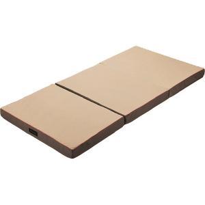 西川リビング ラクラ 体圧分散敷きふとん(三つ折り) ゴールド 2460-10342(安眠 快眠 健康 肩こり 腰痛 新生活 )|breezebox