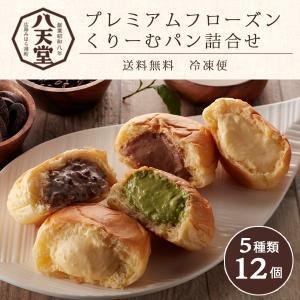 八天堂 くりーむパン 12個 プレミアムフローズンくりーむパン詰合せ 送料無料