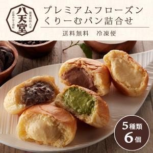 八天堂 くりーむパン 6個 プレミアムフローズンくりーむパン詰合せ 送料無料 breezebox