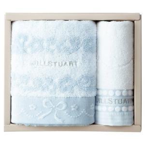 包装・のし無料*ジルスチュアート ブルームリボン フェイス・ウォッシュタオルセット ブルー 58-3129150(お返し 内祝い 結婚 出産 新築 快気 法事 ご挨拶)|breezebox