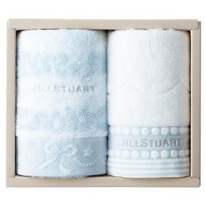 包装・のし無料*ジルスチュアート ブルームリボン フェイスタオル2枚セット ブルー 58-3129200(お返し 内祝い 結婚 出産 新築 快気 法事 ご挨拶) breezebox
