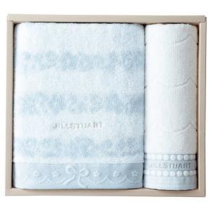 包装・のし無料*ジルスチュアート ブルームリボン バス・ウォッシュタオルセット ブルー 58-3129350(お返し 内祝い 結婚 出産 新築 快気 法事 ご挨拶)|breezebox