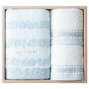 包装・のし無料*ジルスチュアート ブルームリボン バス・フェイスタオルセット ブルー 58-3129500(お返し 内祝い 結婚 出産 新築 快気 法事 ご挨拶)|breezebox