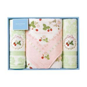 包装・のし無料*ウェッジウッド ワイルドストロベリー バス・フェイス2Pタオル ピンク TT88500601(お返し 内祝い 結婚 出産 新築 快気 法事 ご挨拶) breezebox