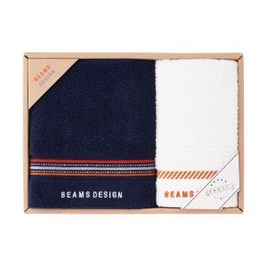 包装・のし無料*ビームス BEAMS DESIGN ラインドット フェイス・ウォッシュタオル ネイビー 51-3029150(お返し 内祝い 結婚 出産 新築 快気 法事 ご挨拶) breezebox
