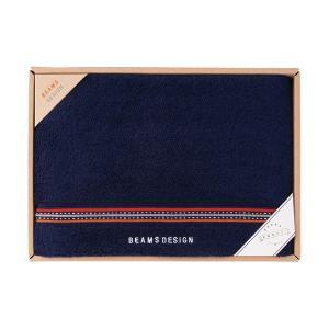包装・のし無料*ビームス BEAMS DESIGN ラインドット バスタオル ネイビー 51-3029300(お返し 内祝い 結婚 出産 新築 快気 法事 ご挨拶) breezebox