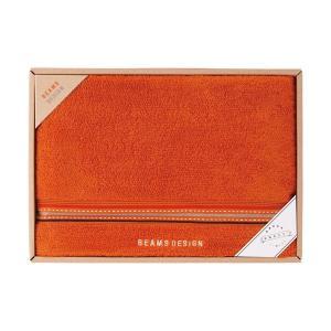 包装・のし無料*ビームス BEAMS DESIGN ラインドット バスタオル オレンジ 51-3029300(お返し 内祝い 結婚 出産 新築 快気 法事 ご挨拶) breezebox