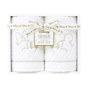 包装・のし無料*ディズニープレミアム ホワイトハピネス ゲストタオル2P ホワイト WG15694(お返し 内祝い 結婚 出産 新築 快気 法事 ご挨拶)|breezebox