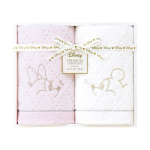 包装・のし無料*ディズニープレミアム ホワイトハピネス フェイスタオル2P ミックス WF25694(お返し 内祝い 結婚 出産 新築 快気 法事 ご挨拶)|breezebox