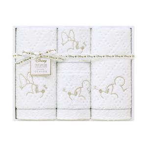 包装・のし無料*ディズニープレミアム ホワイトハピネス タオルセット ホワイト WR40694(お返し 内祝い 結婚 出産 新築 快気 法事 ご挨拶)|breezebox