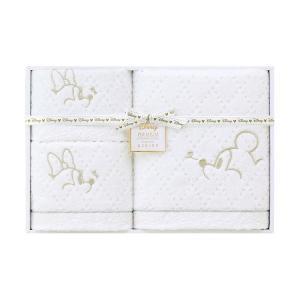 包装・のし無料*ディズニープレミアム ホワイトハピネス タオルセット ホワイト WR50694(お返し 内祝い 結婚 出産 新築 快気 法事 ご挨拶)|breezebox