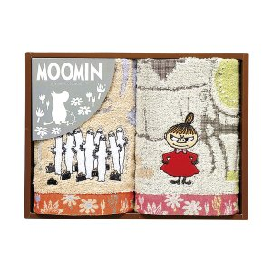 包装・のし無料*ムーミン ムーミン谷の日々 ウォッシュタオル2P  MM-9112(お返し 内祝い 結婚 出産 新築 快気 法事 ご挨拶) breezebox