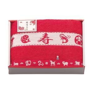 包装・のし無料*今治 福寿タオル 縁起柄 赤 バスタオル1P  FT6030(お返し 内祝い 結婚 出産 新築 快気 ご挨拶) breezebox