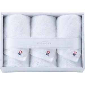 包装・のし無料*今治 やさしいたおる フェイスタオル3P ホワイト YT-18300wh(お返し 結婚 出産 新築 快気 法事 49日 香典返し) breezebox