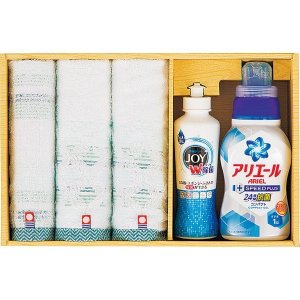 包装・のし無料*今治タオル×P&G洗剤セット  PGT-30(お返し 結婚 出産 初節句 入園 入学 新築 快気 法事) breezebox