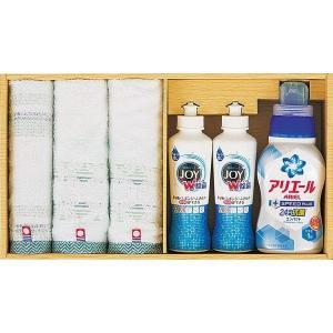 包装・のし無料*今治タオル×P&G洗剤セット  PGT-35(お返し 結婚 出産 初節句 入園 入学 新築 快気 法事) breezebox