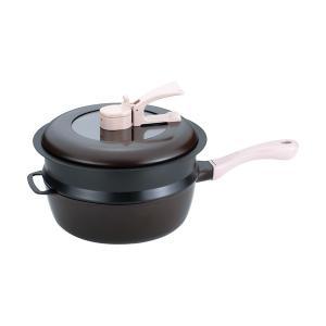 のし無料*レミパンセット24cm(ノッポ蒸し台付) ブラウン RHF-205 (お祝い 新築 フライパン キッチン 平野レミ お料理)|breezebox