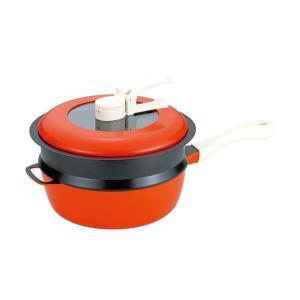 のし無料*レミパンセット24cm(ノッポ蒸し台付) オレンジ RHF-204 (お祝い 新築 フライパン キッチン 平野レミ お料理)|breezebox