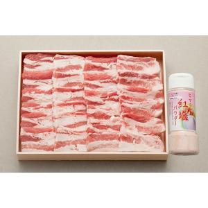 送料無料 さくらポーク バラ焼肉用500g&岩塩付き BY50S-50SP|breezebox