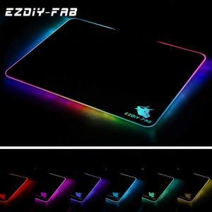 EASYDIY ゲーミングマウスパッド RGBマウスパッド9種照明効果 USB接続 35×25×0....
