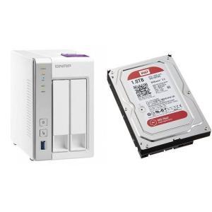 セット買い:NASキット+WD Red HDD 1TB 1台QNAP(キューナップ) TS-231P...