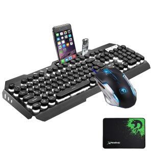 FELiCON?ゲーミングキーボード マウス セット M398 防水機能付き バックライト 英語配列...