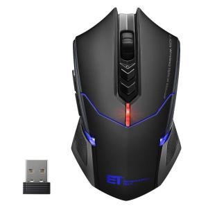 Qtuo ゲーマーマウス 2.4G ワイヤレスマウス ゲーミングマウス 超静音 5段階DPI調整可能...