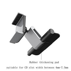 CDスロット取付型車載ホルダー 携帯車載ホルダー スマホホルダー 対応 iPhone Samsung...
