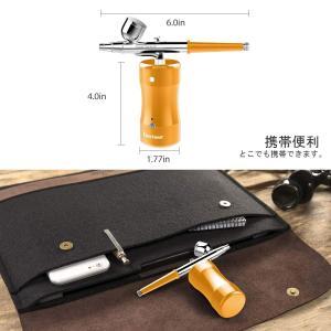 ゴシェール(Gocheer) 充電式エアブラシ用 一体化コンプレッサー 小型 USB充電ライン シン...