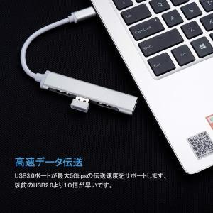 iLokey Type C ハブ 4in1USB ハブ ウルトラスリム マルチ変換アダプタ USB3...