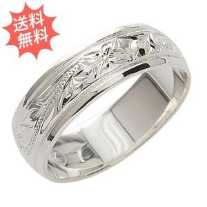 ハワイアンジュエリー 指輪 リング プルメリア&スクロール柄  Sliver925 永遠の愛が運ばれる指輪 プレーン6mm幅|breezyisland