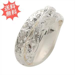 ハワイアンジュエリー 指輪 リング 3in1 3連リング シルバー 気品が漂う伝統的なデザイン Sliver925 プレーン4mm幅×3|breezyisland