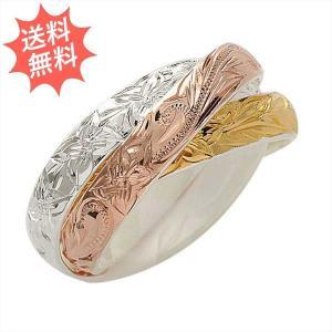 ハワイアンジュエリー 指輪 リング トリプルカラー 3in1 3連リング 品の良さが漂う伝統的なデザイン♪ Sliver925|breezyisland