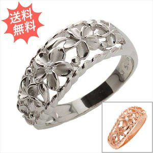 ハワイアンジュエリー 指輪 リング ファイブ プルメリア 可愛いプルメリアで魅力度アップ Silver925|breezyisland