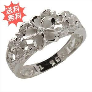ハワイアンジュエリー 指輪 リング レディース スリー プルメリア 可愛いプルメリアで魅力度アップ Silver925|breezyisland