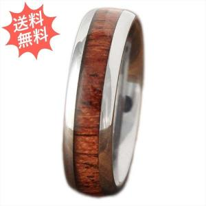 ハワイアンジュエリー 指輪 リング 「コアウッド リング」  6mm幅タイプ 美しく輝く貴重なハワイアンコアウッドリング