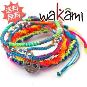 Wakami ワカミ レディース ネオンブレスレット 7 STRAND 紐 女性サイズ (ジャパンリミテッド)|breezyisland