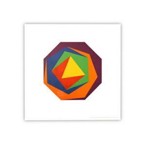 マックス・ビル ポスター バリエーション1 Max・Bill バウハウス6色の多角形コンクリートアートリビングインテリアギフト プレゼントリビング|bricbloc