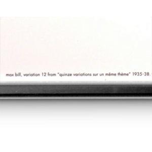マックス・ビル ポスター バリエーション12 Max・Bill バウハウス3次元的リングリビングコンクリートアートインテリアリビングギフト プレゼント|bricbloc|02