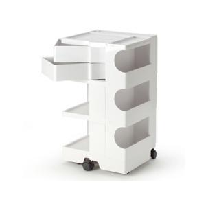 ボビーワゴン 3段2トレイ ホワイト ジョエ コロンボ イタリア MoMAパーマネントコレクションB-LINE多機能ワゴンキッチン リビングデザイナーズ家具ロングセラー|bricbloc