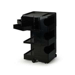 ボビーワゴン 3段3トレイ ブラック ジョエ コロンボ イタリア MoMAパーマネントコレクションインテリアキッチン リビング多機能ワゴンキャスター付ワゴン bricbloc