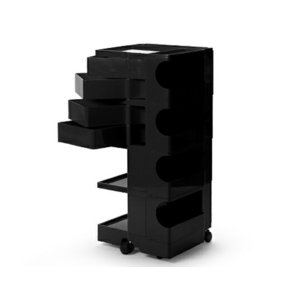 ボビーワゴン 4段4トレイ ブラック ジョエ コロンボ イタリア MoMAパーマネントコレクション多機能ワゴンキャスター付ワゴンインテリアキッチン リビング bricbloc