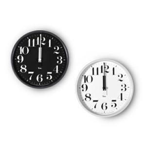 リキ スチール クロック (数字指標タイプ) 電波時計 送料無料 渡辺力壁掛時計ウォールクロックLemnos レムノスインテリアスチールフレームギフト プレゼント bricbloc