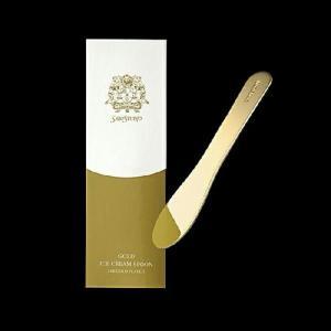 金のアイスクリームスプーンギフトプレゼント長崎県美術館パーマネントコレクション純金 24Kゴールドキッチン用品贈答品|bricbloc