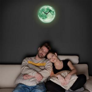 moon light clock ムーン ライト クロック 壁掛時計 Kikkerlandキッカーランドインテリアウォールクロック蓄光素材満月暗闇で光ります bricbloc